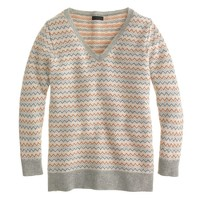 Collection cashmere chevron sweater