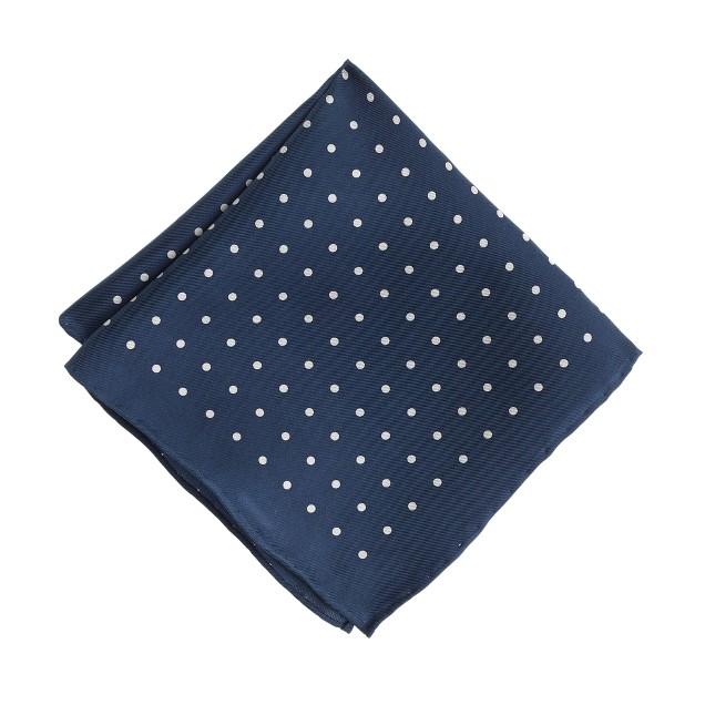 Boys' silk pocket square in polka dot