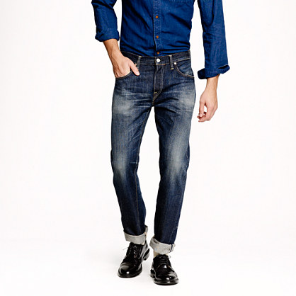 Canton™ for J.Crew slim unsanforized dark wash jean