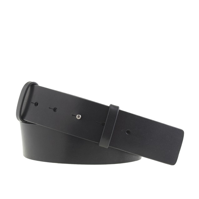Vachetta leather stud-post belt