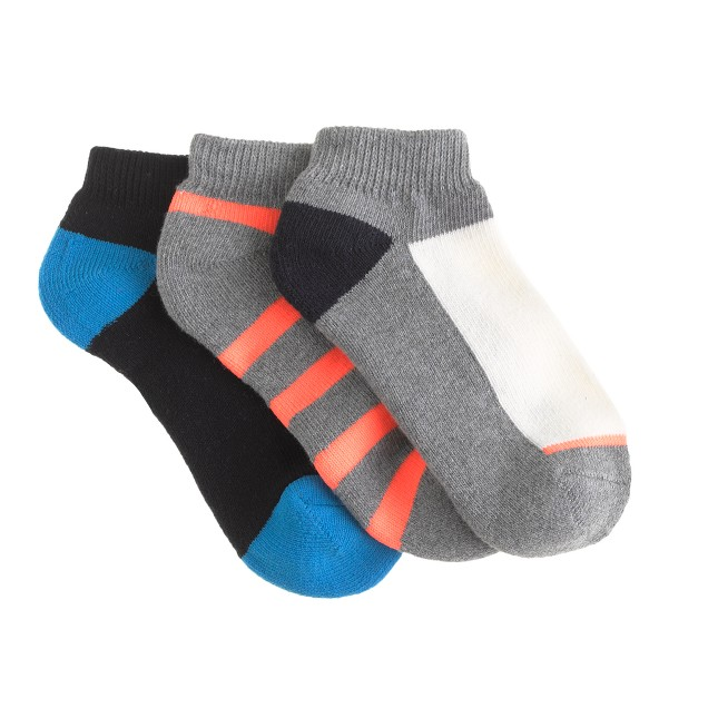 Boys' ankle socks three-pack in graphite multi