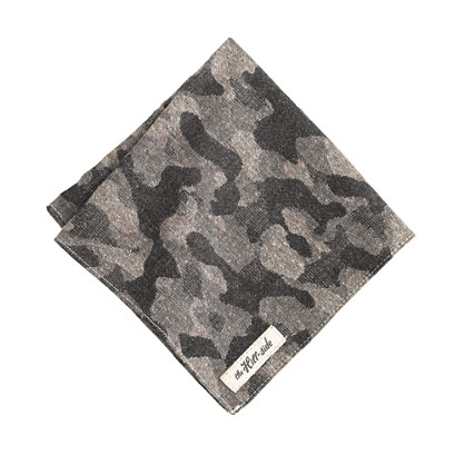 The Hill-side® woven jacquard camo pocket square