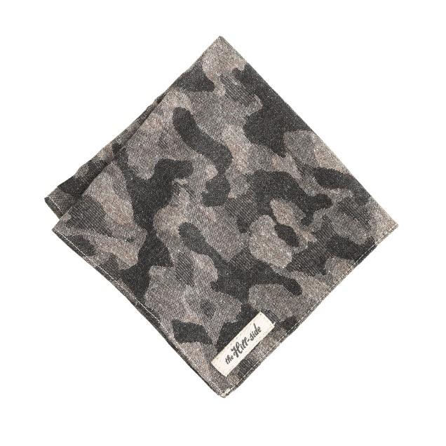The Hill-side® woven jacquard camo pocket square