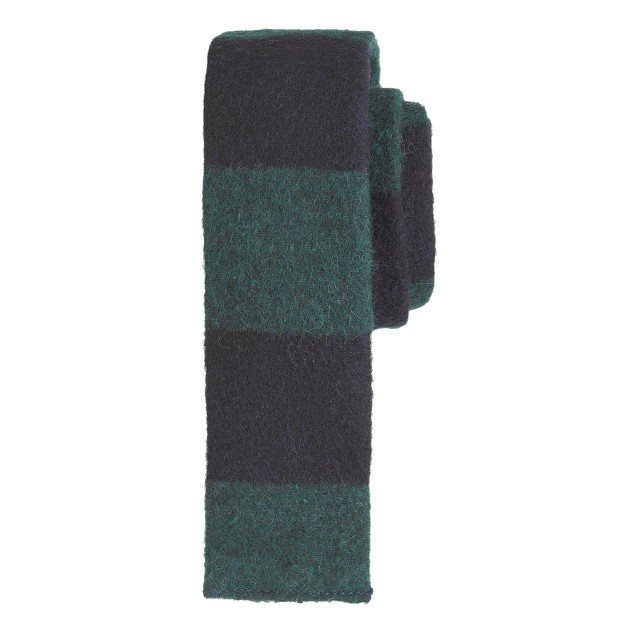 The Hill-side® wool-cotton border-stripe flannel tie