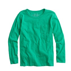 Boys' long-sleeve pocket T-shirt