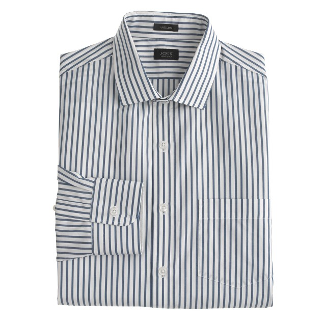 Ludlow spread-collar shirt in bengal stripe
