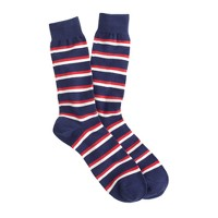 Two-tone stripe socks