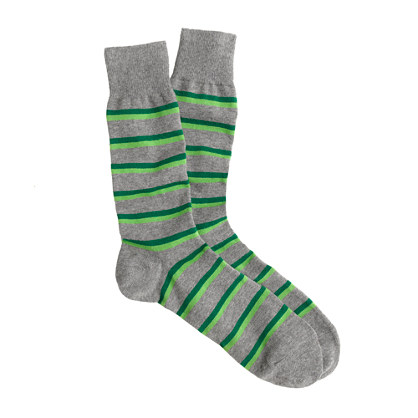 Two-tone stripe socks