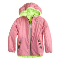 Girls' K-Way® reversible snow jacket