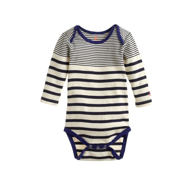 Baby long-sleeve one-piece in multistripe