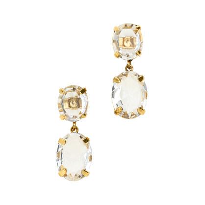 Oval glass earrings