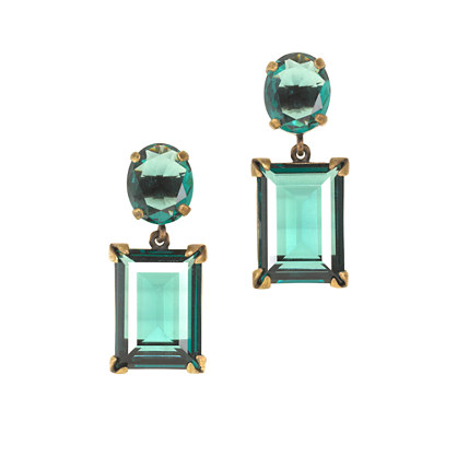 Glass island drop earrings