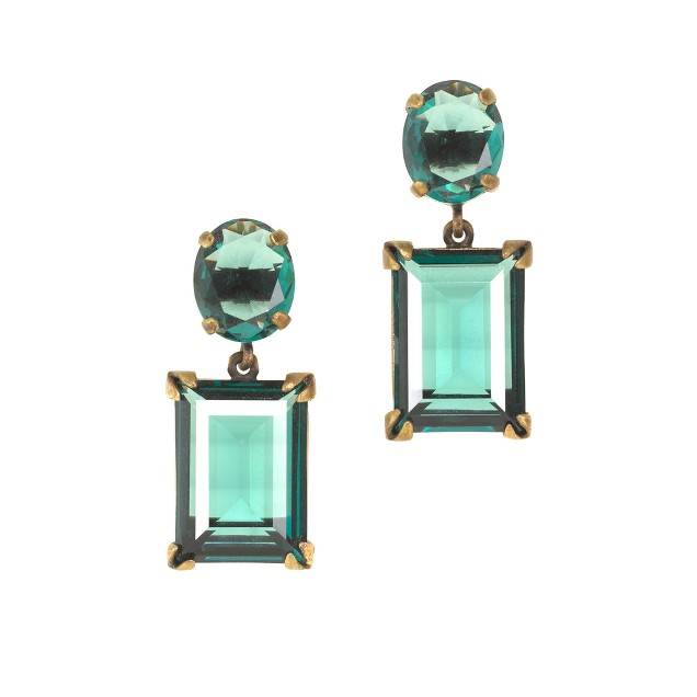 Glass island drop earrings