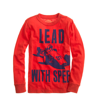 Boys' long-sleeve lead with speed tee