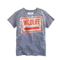 Boys' wildlife tee