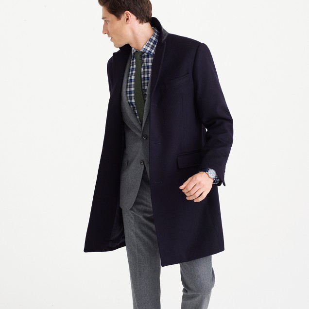 Ludlow topcoat in wool-cashmere with Thinsulate®