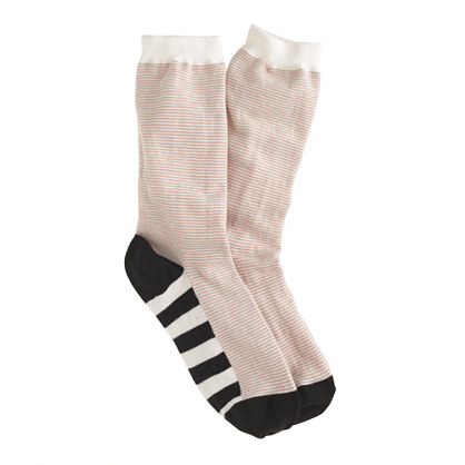 Stripe sole trouser socks