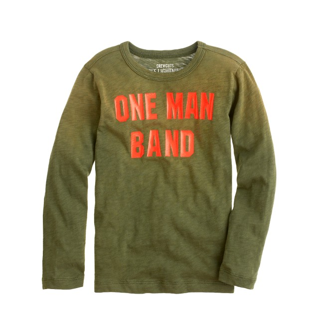Boys' long-sleeve one man band tee