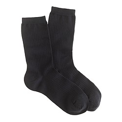 Fine ribbed trouser socks