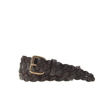 Boys' braided leather belt