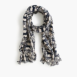 Girls' printed scarf