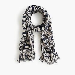 Girls' printed scarf