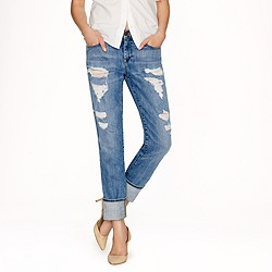 Broken-in boyfriend jean in Abbott wash