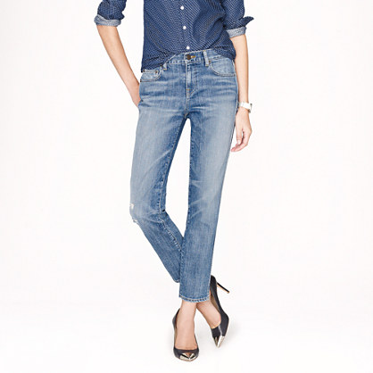 Cropped vintage straight jean in cascade wash
