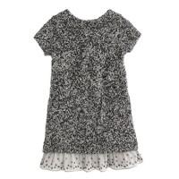 Girls' jeweled-hem sweater-dress