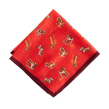 Drake's® dog-print handkerchief