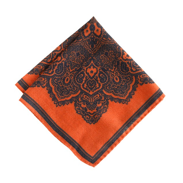 Drake's® lace doily-print handkerchief