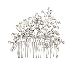 Scattered petals crystal comb