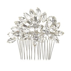Spiky floral crystal comb