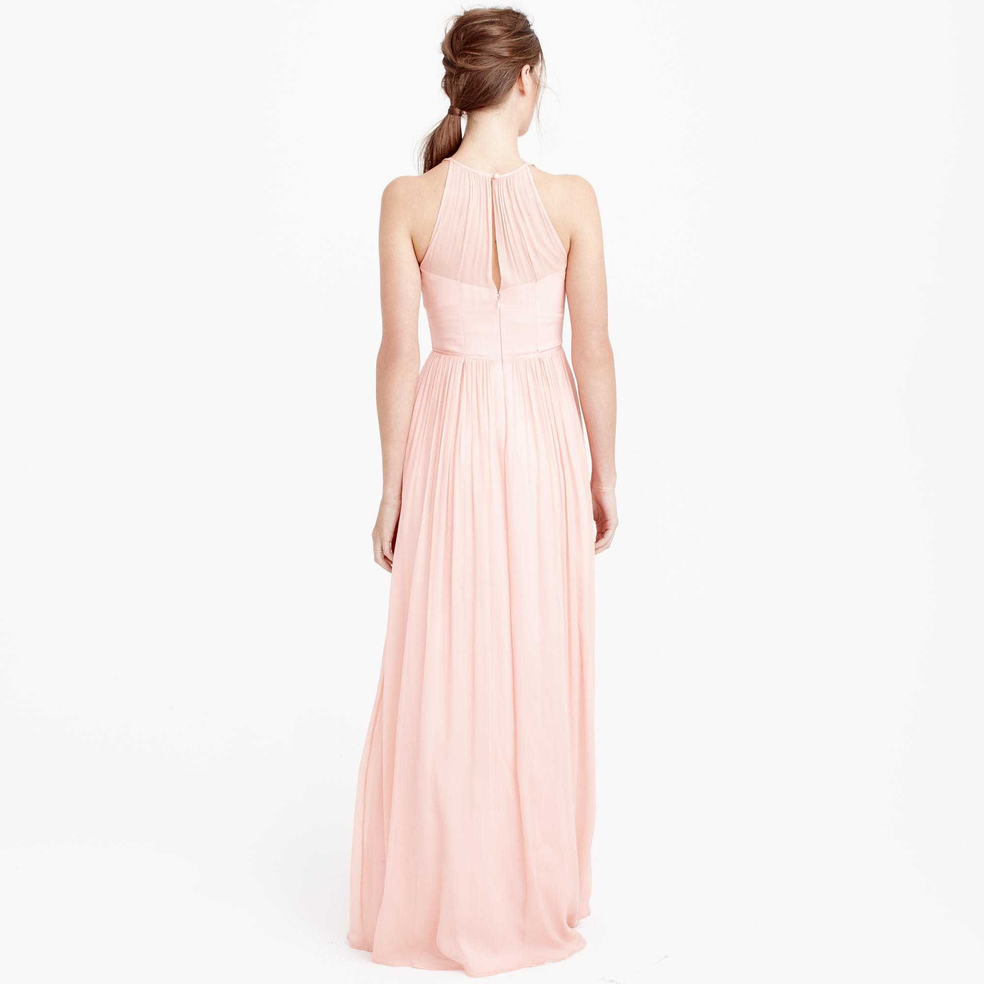Megan long dress in silk chiffon :  J.Crew
