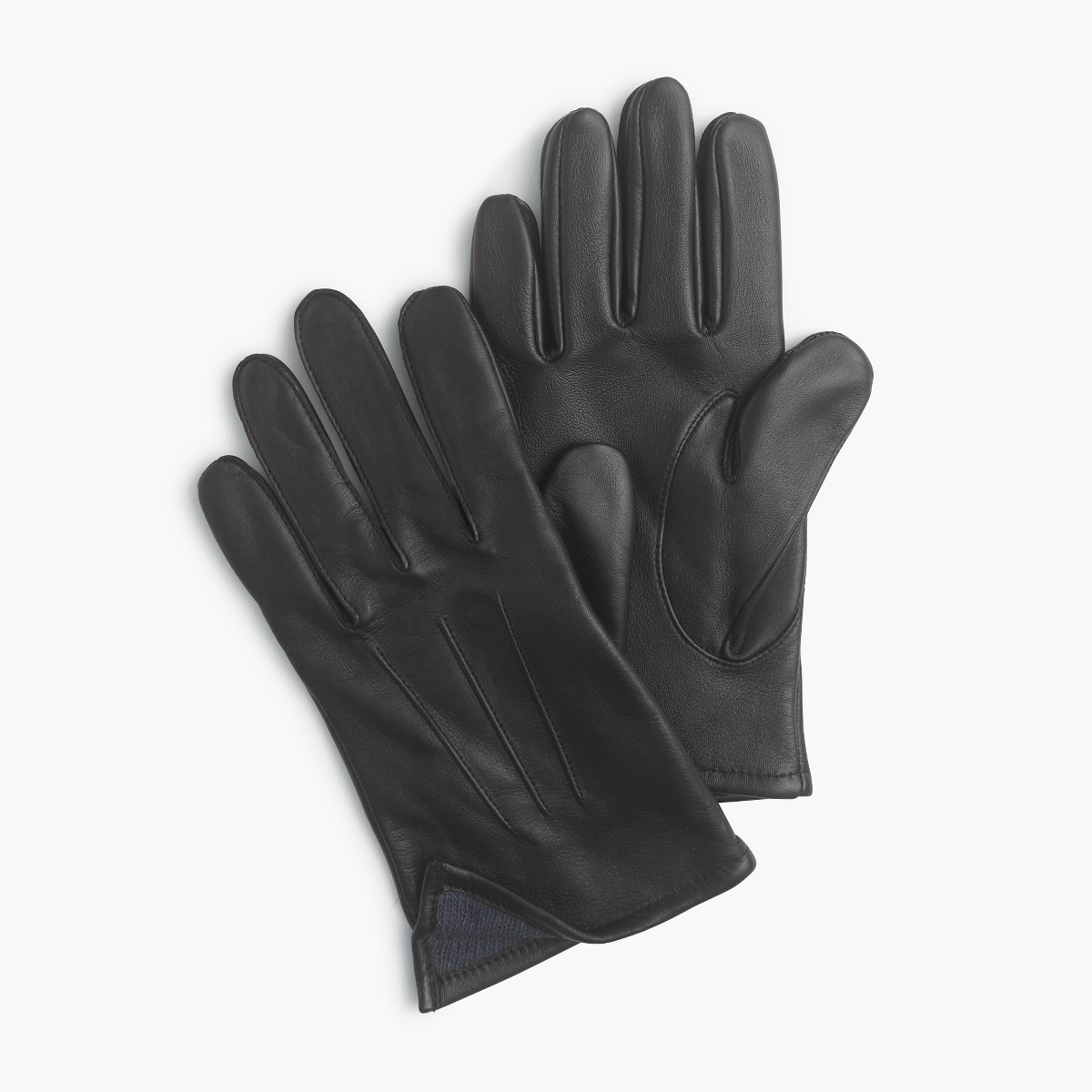 Mens gloves for smartphones - Cashmere Lined Leather Smartphone Gloves Back To Product