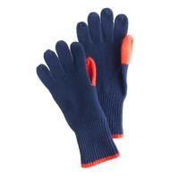 Boys' color-contrast gloves