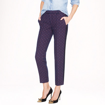 Collection printed tweed tuxedo pant
