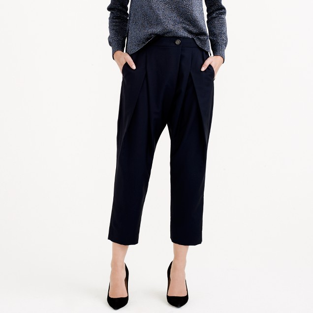 Collection draped pant in Italian wool