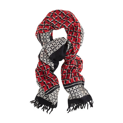 Cubist houndstooth scarf