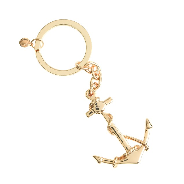 Anchor and rope key chain