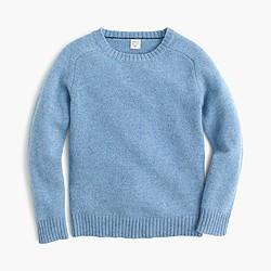 Boys' lambswool crewneck sweater