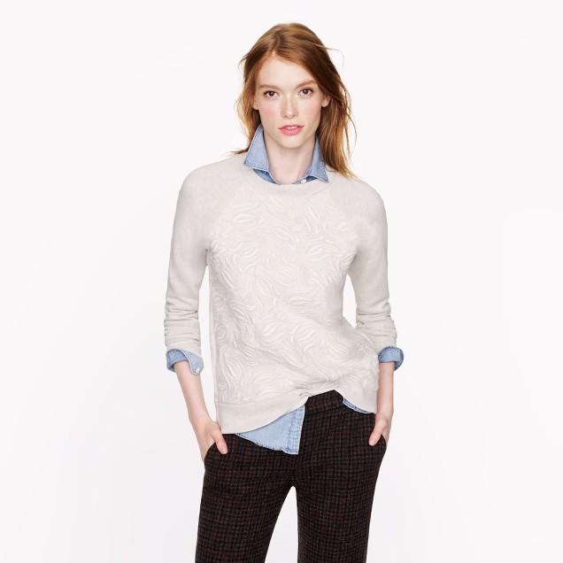 Tulip embroidery sweatshirt