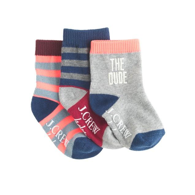 Baby socks three-pack