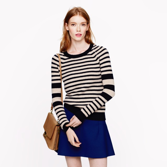 Collection cashmere sleeve-stripe sweater
