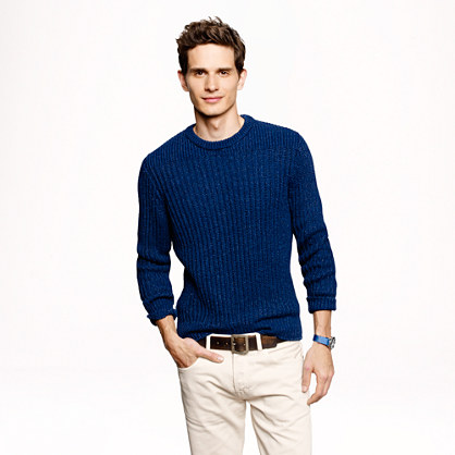 Wallace & Barnes indigo sweater