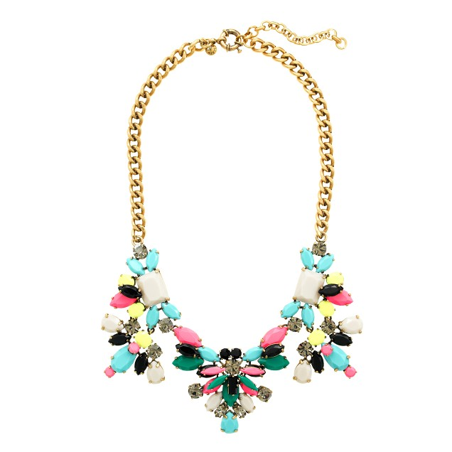 Technicolor floral necklace