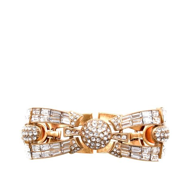 Crystal baguette bracelet