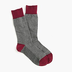 Microhoundstooth socks