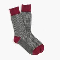 Microhoundstooth socks