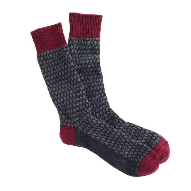 Heavyweight wool patterned socks